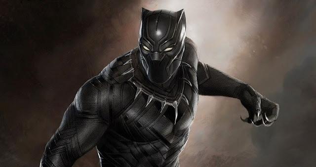 Chadwick Boseman y Martin Freeman en Black Panther
