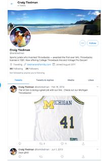Craig Tiedman Twitter account