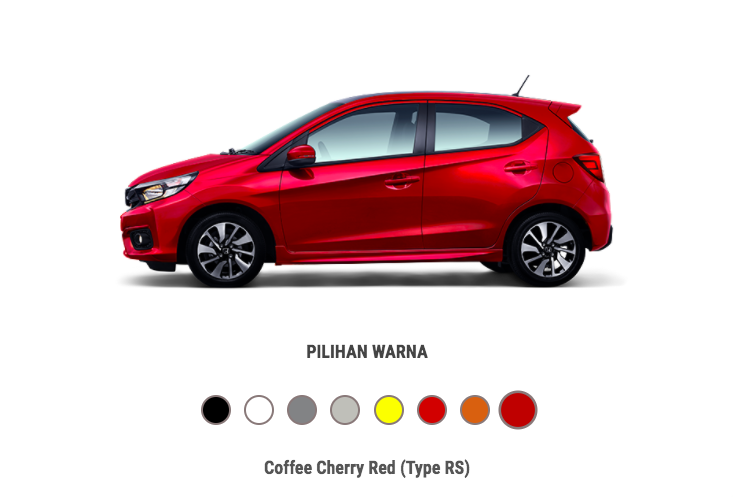 Honda Brio Coffee Chery Red