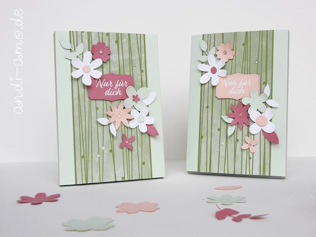 Stampin Up Perforierte Blumen Team Geschenk