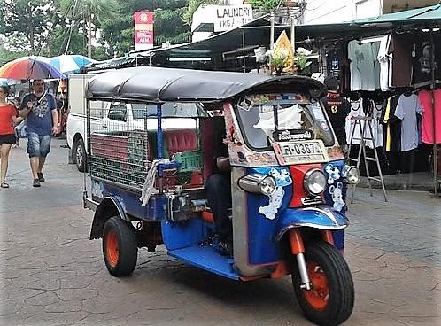 Tuk Tuk en Khao San Road Bangkok