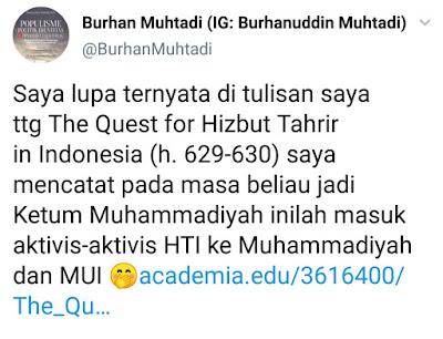Burhanuddin Muhtadi Sebut Era Din Syamsuddin Jadi Ketum, Banyak Aktivis HTI Masuk ke Muhammadiyah dan MUI