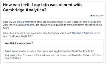 Did Facebook share your data with Cambridge Analytica? Here's how to find out ..