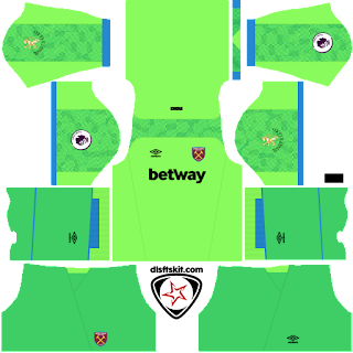 West Ham United FC 2018 - 2019 GK Away Kit