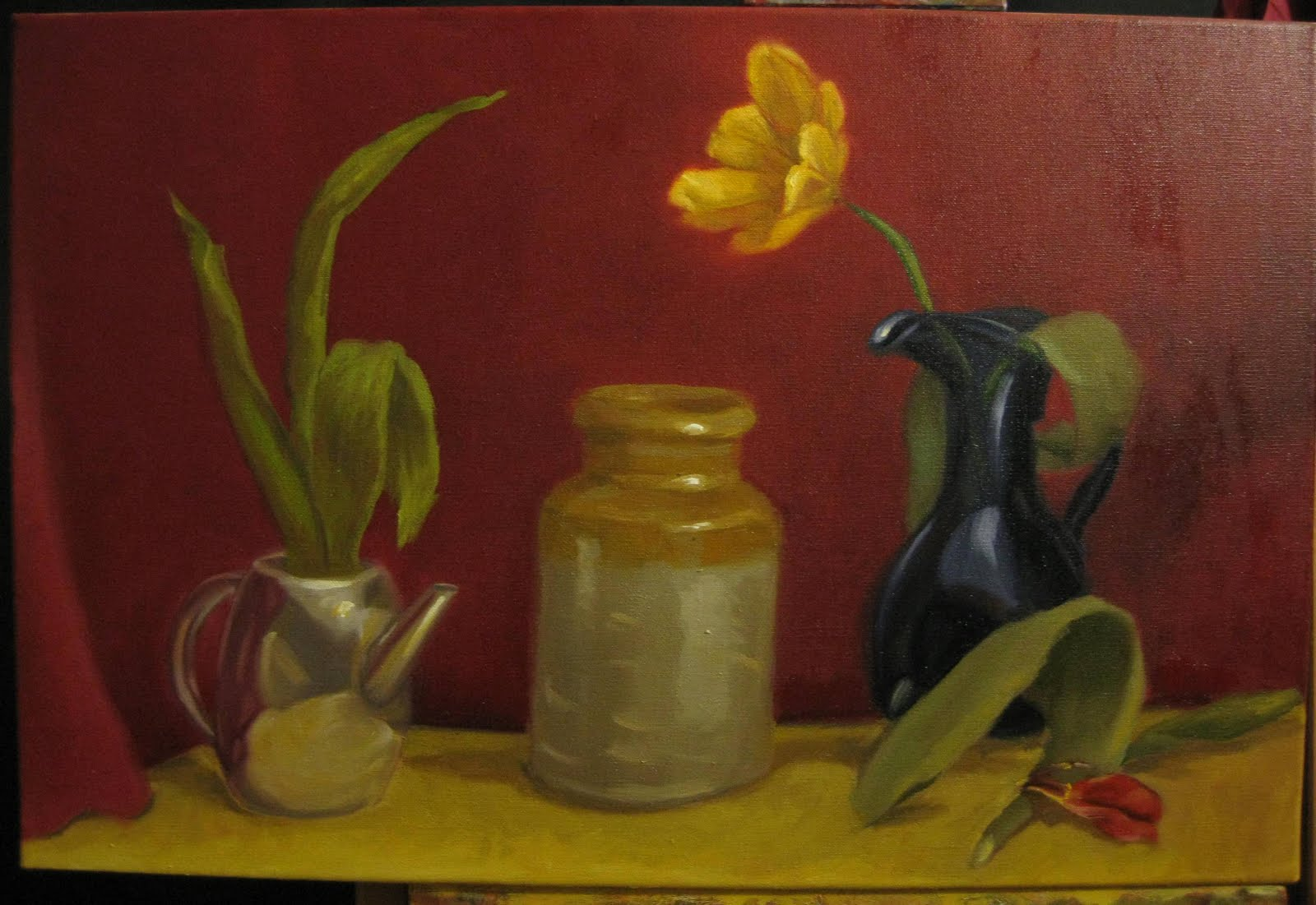 The Colour And Shape The Easter Still Life Drawings In Paint