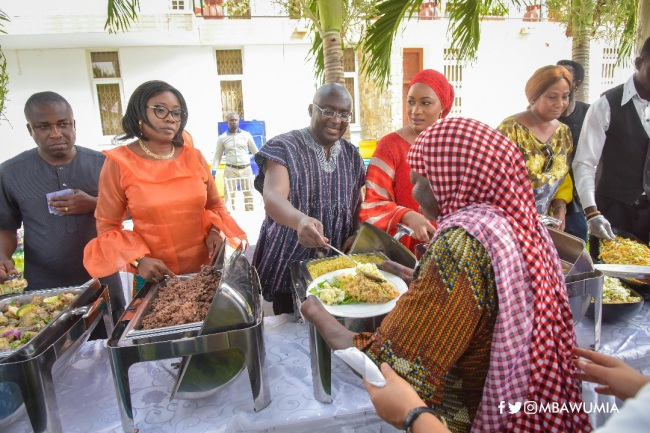 VP Bawumia And Family Fete Cured Lepers