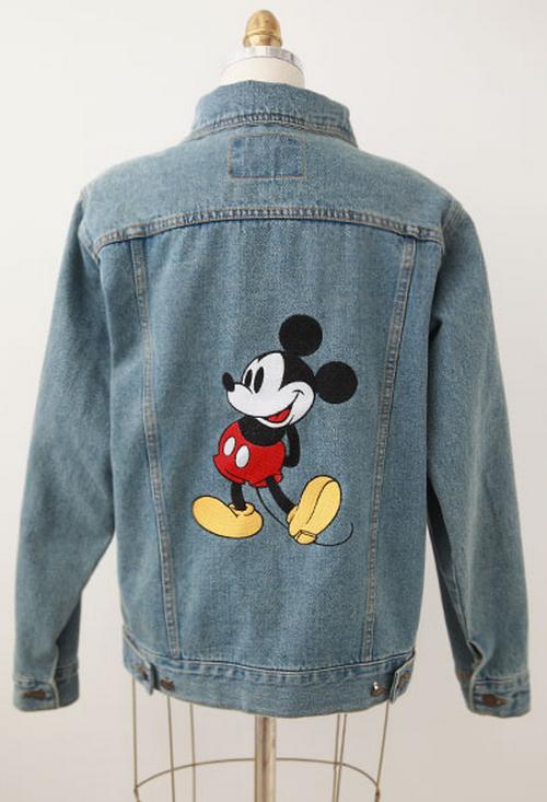 Chuu Mickey Mouse Print Denim Jacket Kstylick Latest