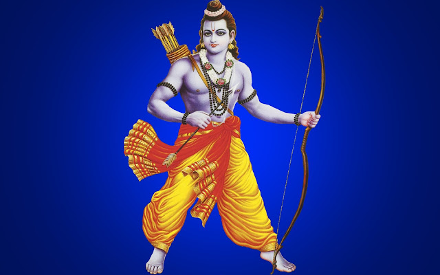 Best God Ram HD Wallpaper In Blue Background