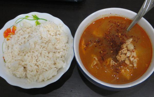 Том Ям с рисом по-русски