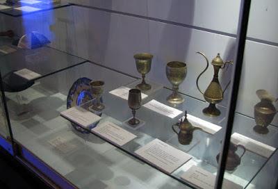 peças expostas no museu judaico em Belmonte