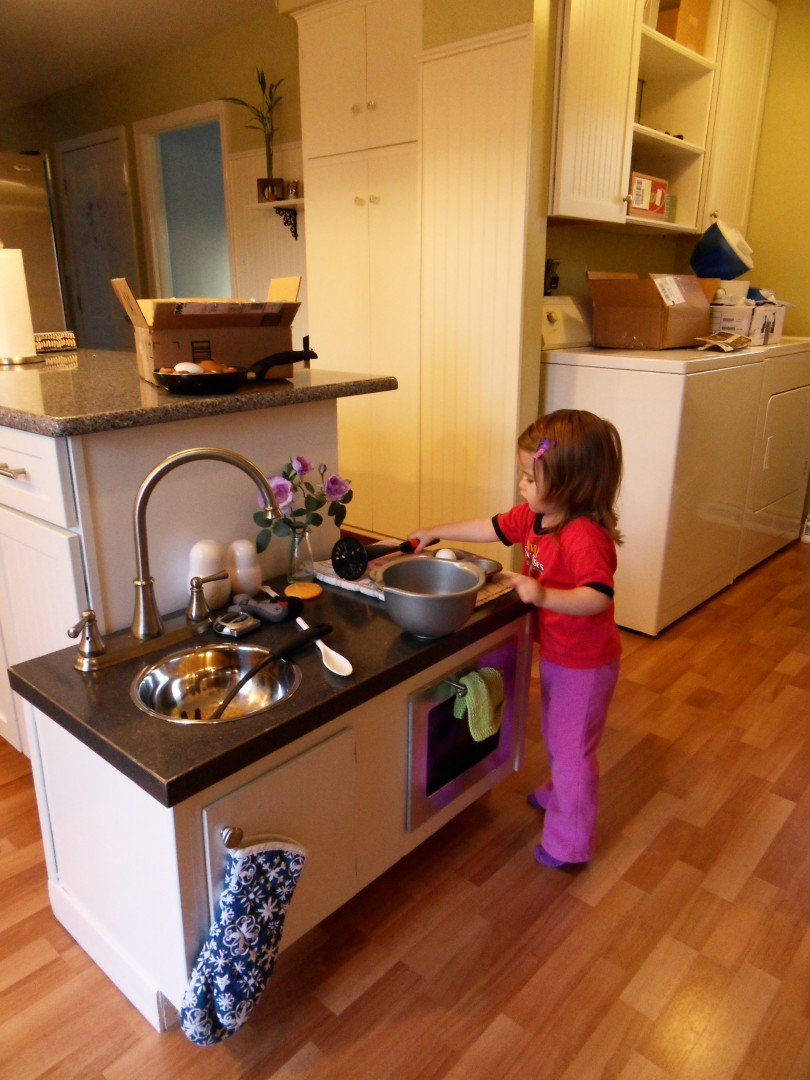 Play Kitchen Stainless Steel Appliances
