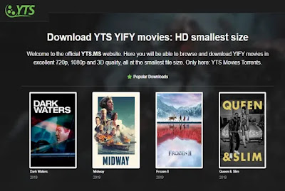 YTS:The Official Home YIFY Movies Torrent Download|review