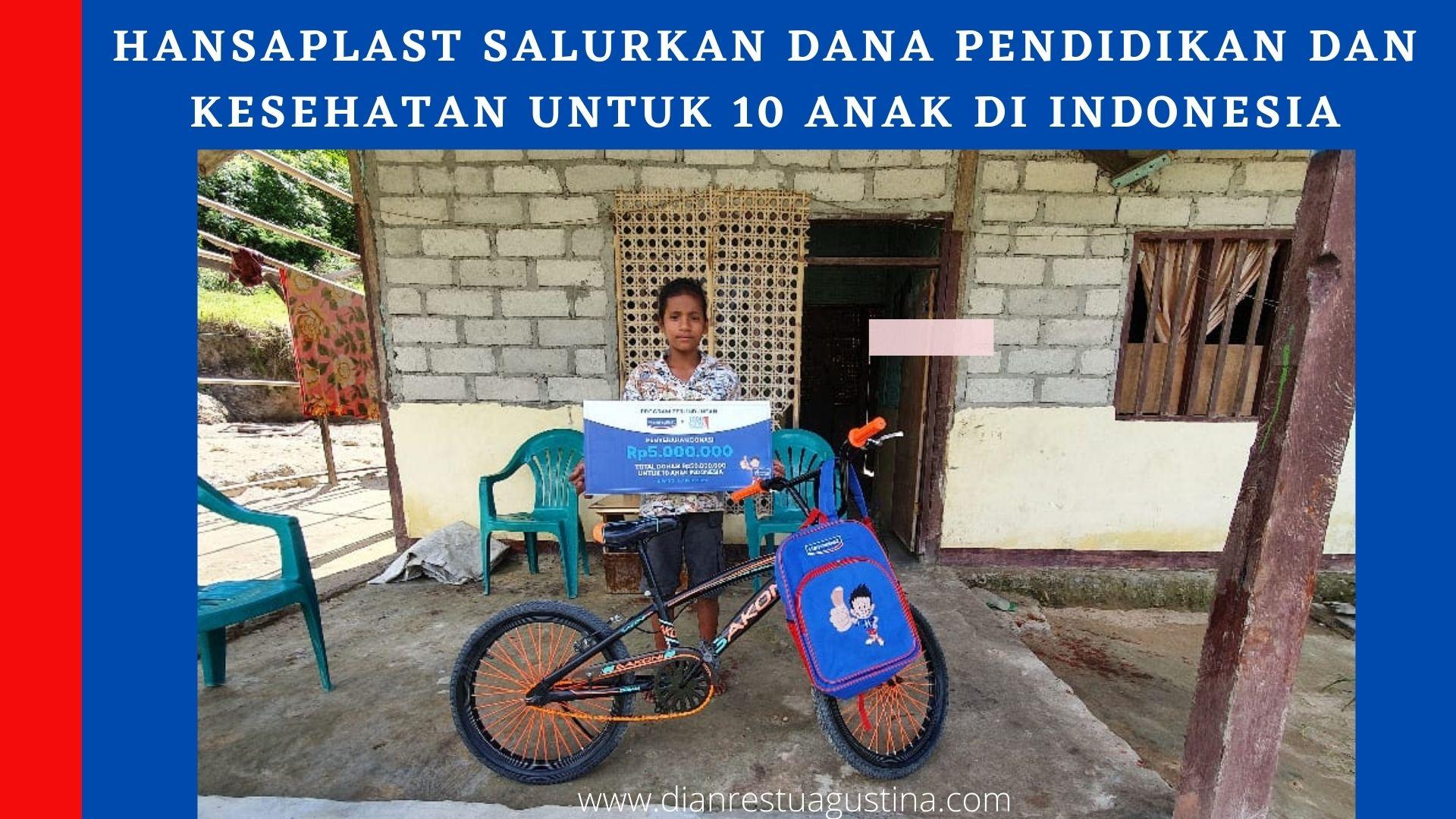 Hansaplast Plester Bacteria Shield, Hansaplast menyalurkan dana bantuan untuk 10 Anak di Indonesia melalui 1000 Guru Foundation