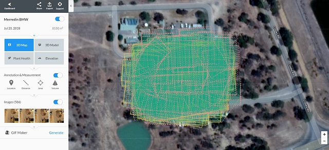 Merredin drone inspection storm damage assessment using Drone Deploy