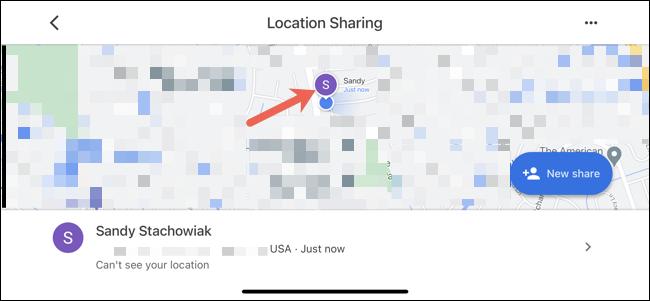 اضغط على جهة اتصال لرؤيتها على الخريطة