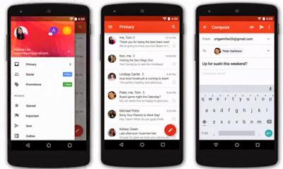 Material Design di Aplikasi Gmail di Android
