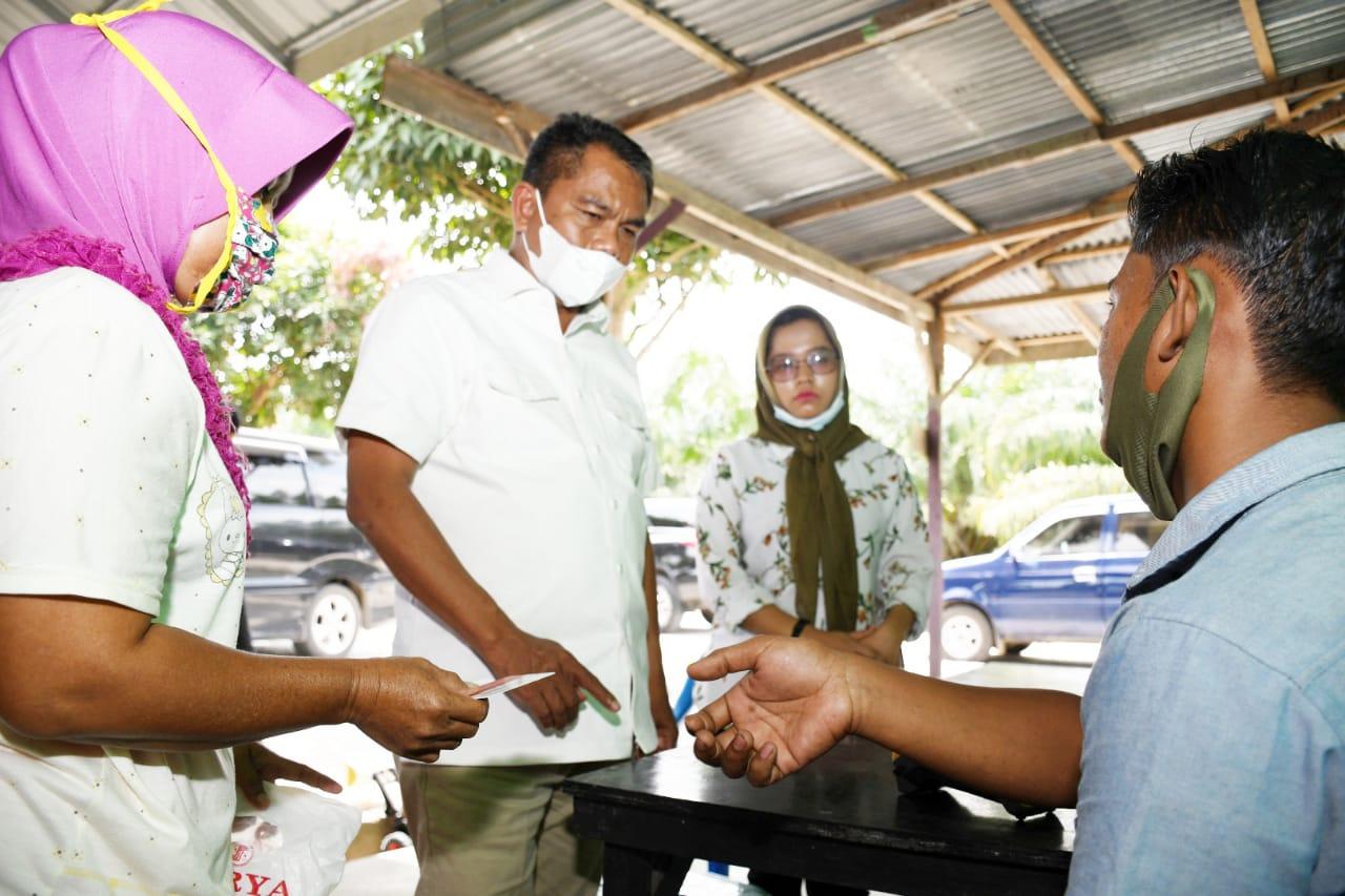 Wabup Sergai Meninjau BPNT di E-Warong Arpina Desa Sei Buluh