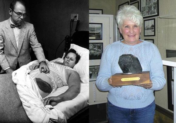 meteorito de Hodges - feriu mulher nos EUA