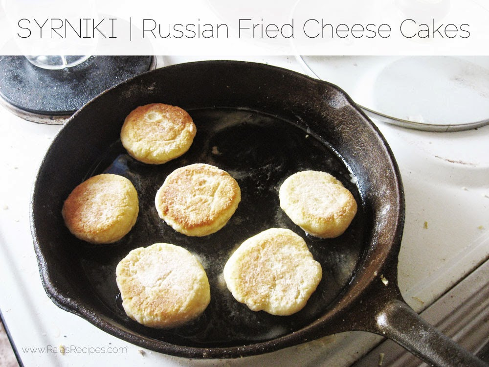 Syrniki | Russian Fried Cheese Cakes | www.RaiasRecipes.com