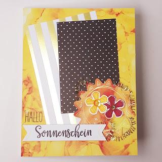 """Grußkarte """"Hallo Sonnenschein"""" Stampin' Up! www.eris-kreativwerkstatt.blogspot.de"""