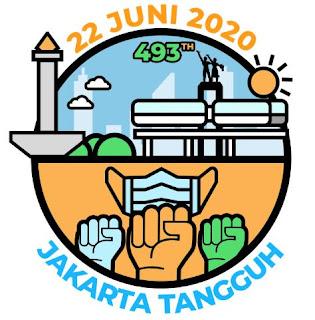 logo hut kota dki jakarta ke-493 -jakarta tangguh