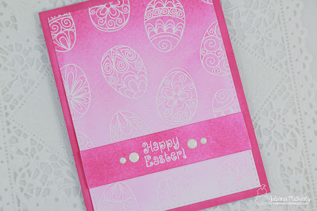 Happy Easter Cards with Ombre Background by Juliana Michaels featuring Newton's Nook Beautiful Spring Stamp Set