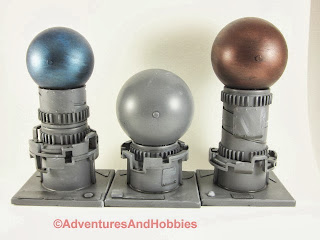 Industrial terrain pieces for 25mm to 28mm science fiction war games - Set 2