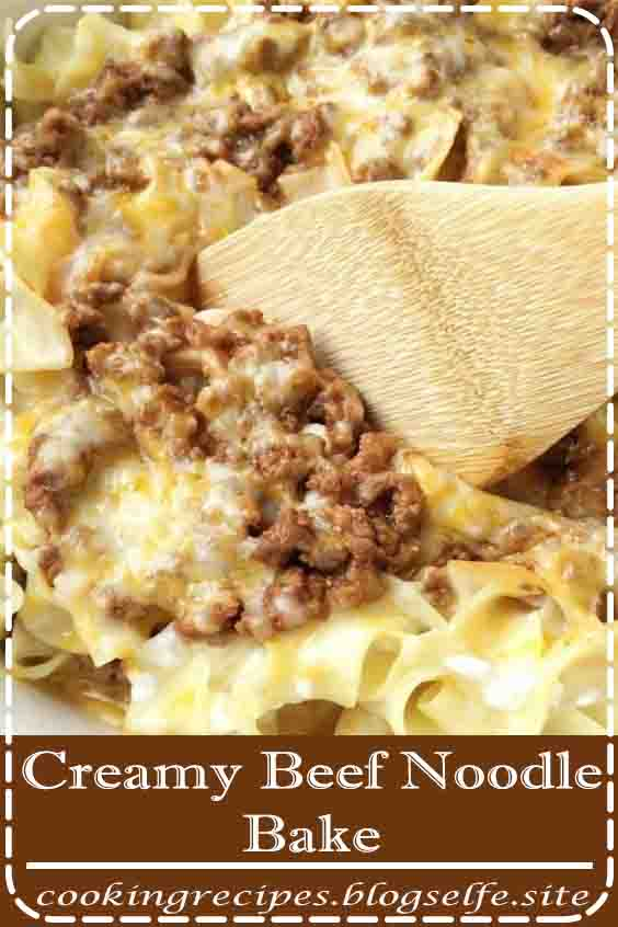 4.7 ★★★★★ | Creamy Beef Noodle Bake | Dinner Recipe | Ground Beef Recipes | Tender egg noodles, melty cheese, and a creamy tomato ground beef mixture make for one amazing, and family-friendly dinner! The entire family will love this simple and easy creamy beef noodle bake. It's a family favorite that can be on the dinner table in 30 minutes. #easy dinner recipes #for family #beef