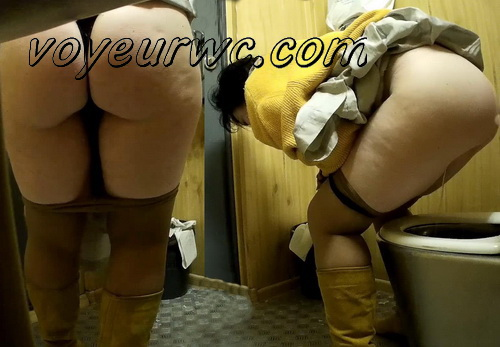 European ladies caught by hidden cam in the public toilet (Street Toilet 15)