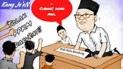 "Karikatur ""Kang Je'en"" : Mang Oded Curhat Dong"