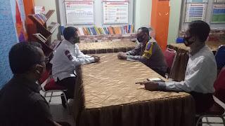 Jelang Pilkada, Kapolres Pangkep Lakukan Kordinasi dan Silaturahmi dengan Anggota KPU