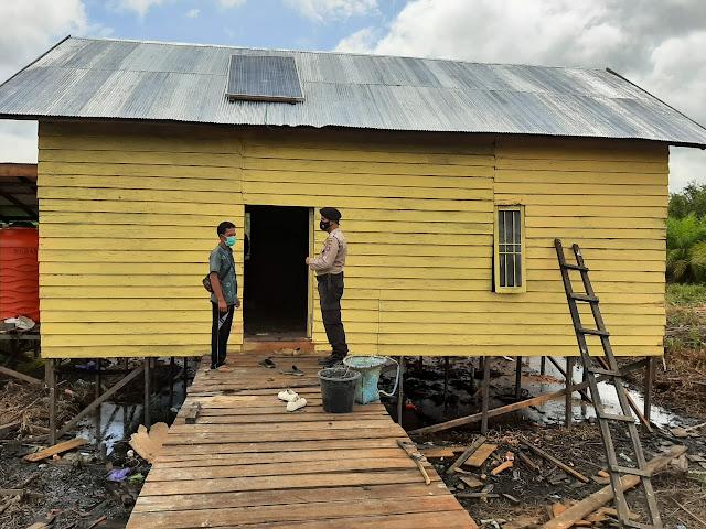 Kanit Sabhara Polsek Sebangau Kuala Sampaikan Himbauan Bahalap Bapahari Kepada Masyarakat