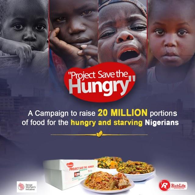 Freelanews partners Richlife Africa, Ileoge on #ProjectSaveTheHungry