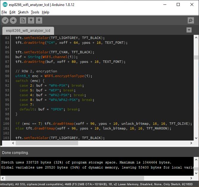 Arduino IDE cu temă de culoară întunecată