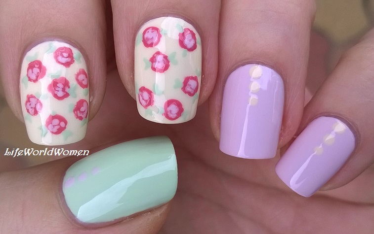 Life world women super easy pastel floral nail art for beginners super easy pastel floral nail art for beginners prinsesfo Images