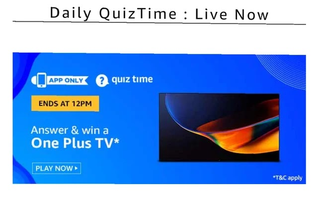 One Plus Tv quiz answer