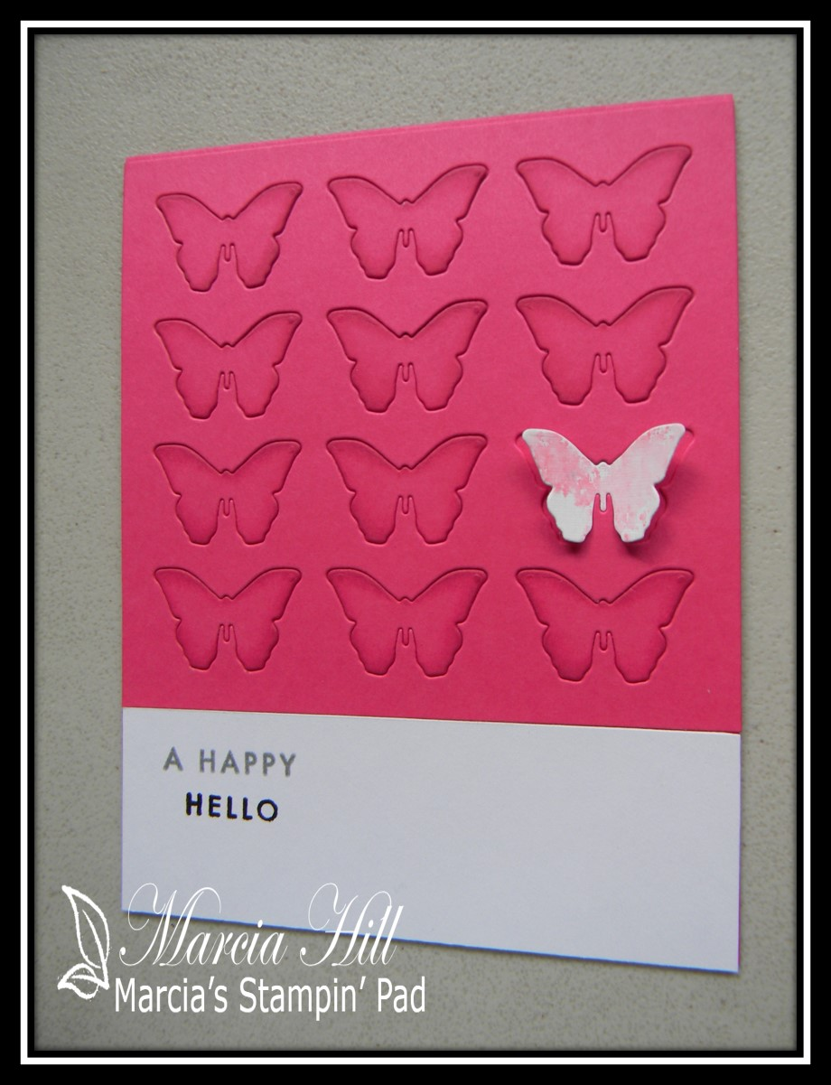 Marcias stampin pad make it monday 288 pantone chip inspired cards i used the cover plate from bitty butterflies and raspberry fizz cardstocki know i know it looks more like a cross between hibiscus burst and berry m4hsunfo