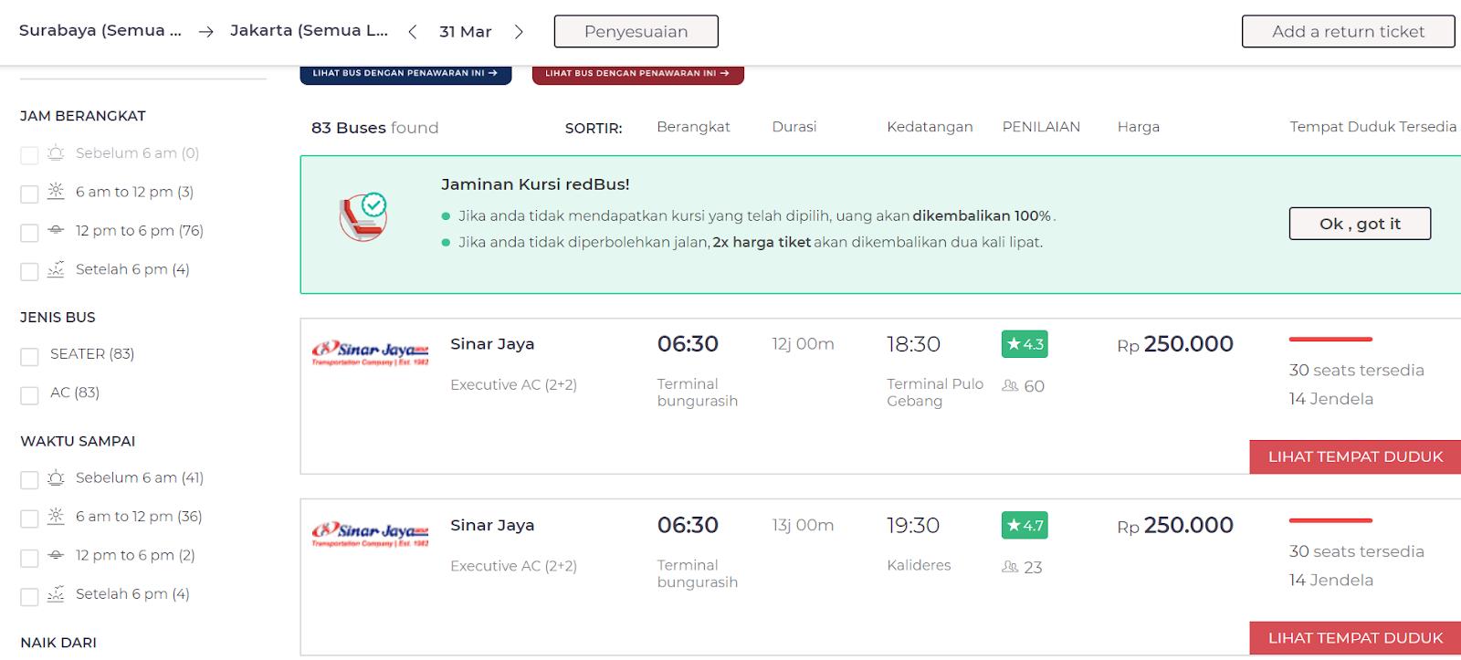 RedBus Tiket Bus Online