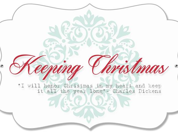 Keeping Christmas Inspirational Blog Hop - August 2018