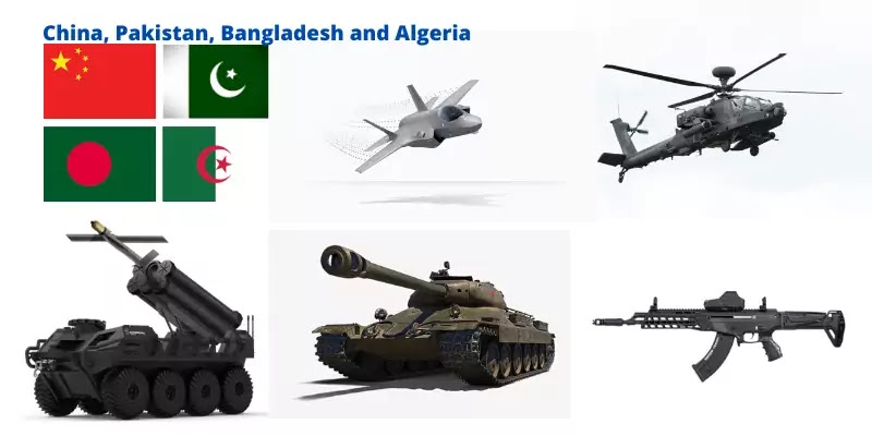 China, Pakistan, Bangladesh and Algeria