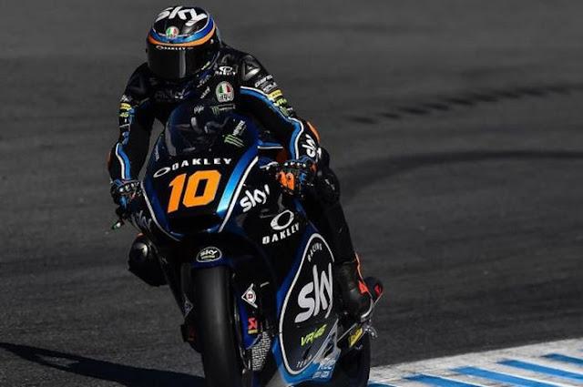 Pembalap Sky Racing VR46, Luca Marini