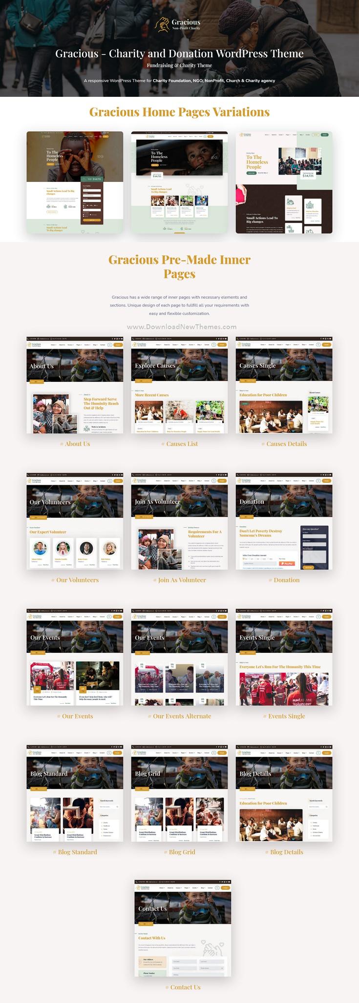 Charity and Donation WordPress Theme