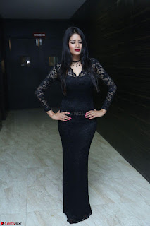 Actress Monica in spicy transparent Black Top at O Pilla Nee Valla Movie Audio Launch Feb 2017 179.JPG