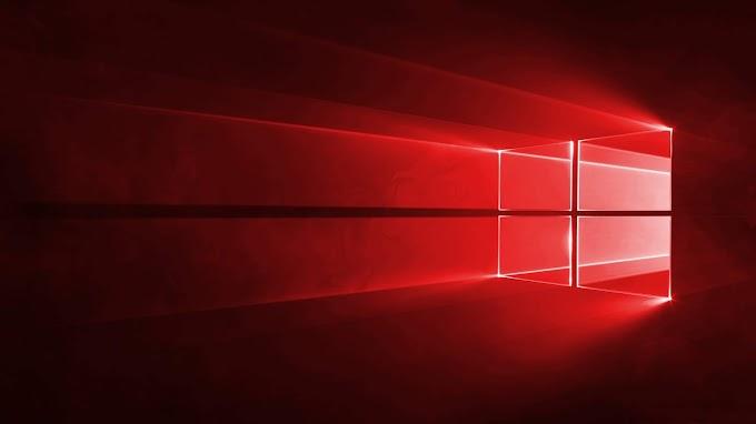Papel de Parede Windows Dez Vermelho