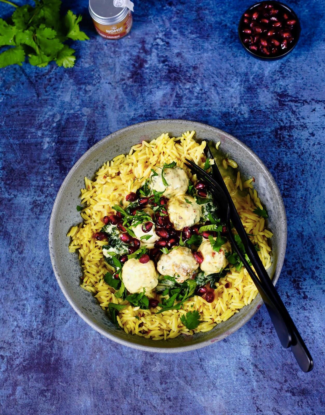 poulet , cuisine rapide, recette facile , curry au lait de coco , grenade