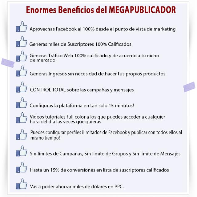 beneficios del megapublicador
