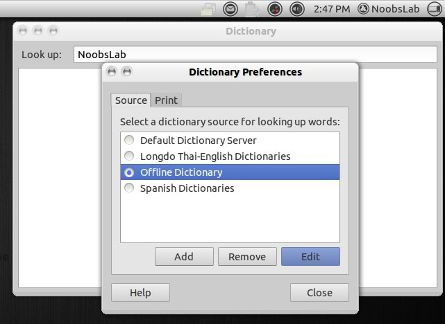 offline gnome dictionary
