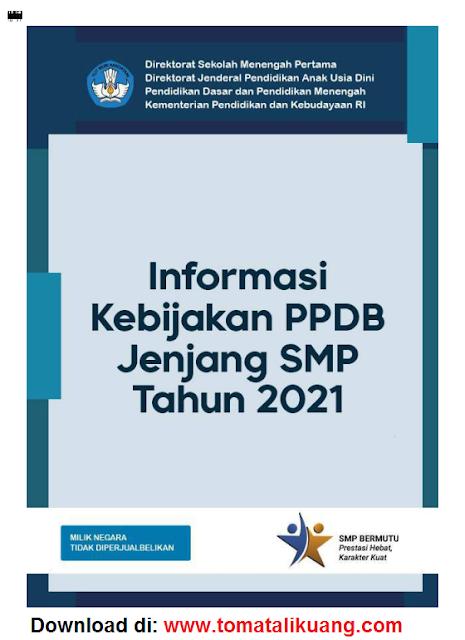 buku saku informasi kebijakan ppdb smp tahun 2021 pdf tomatalikuang.com