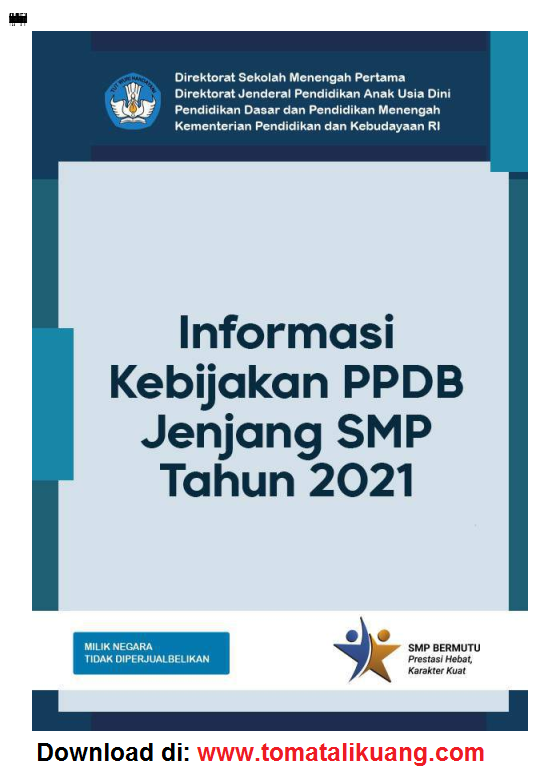 Download Buku Saku PPDB SMP Tahun 2021 PDF Resmi Kemendikbud