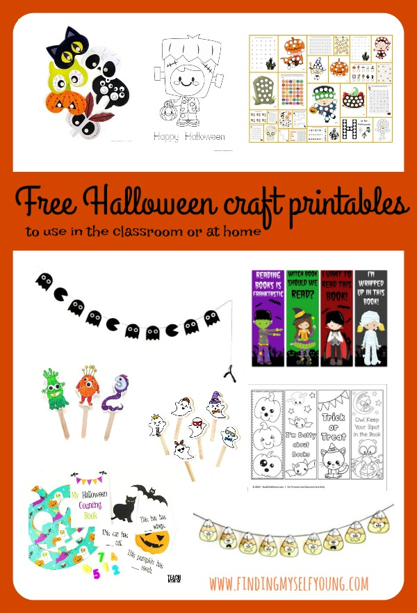Free halloween puppets, garlands, colouring in sheets, activity books and more